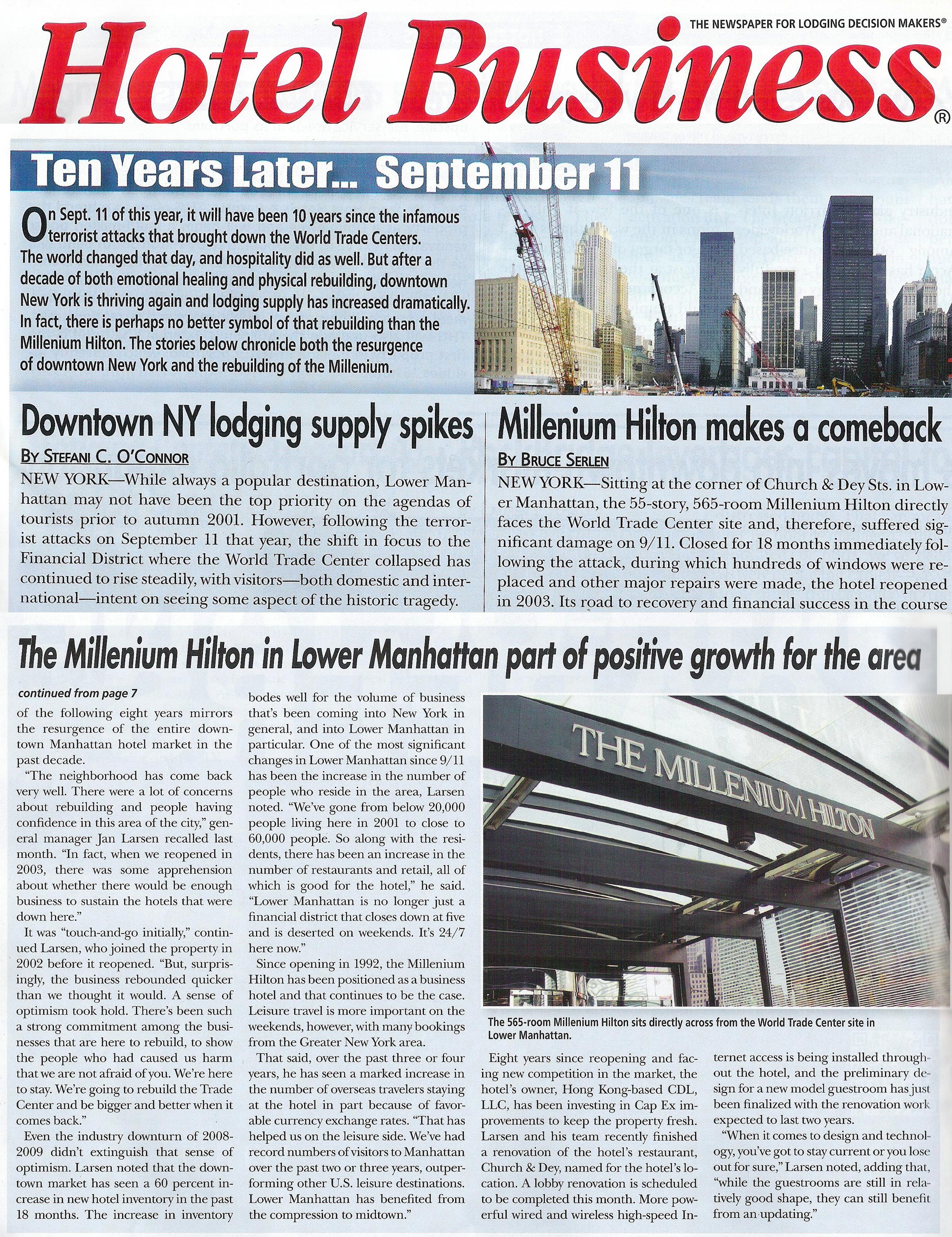 MILLENIUM HOTEL BUSINESS MAG ARTICLE FULL